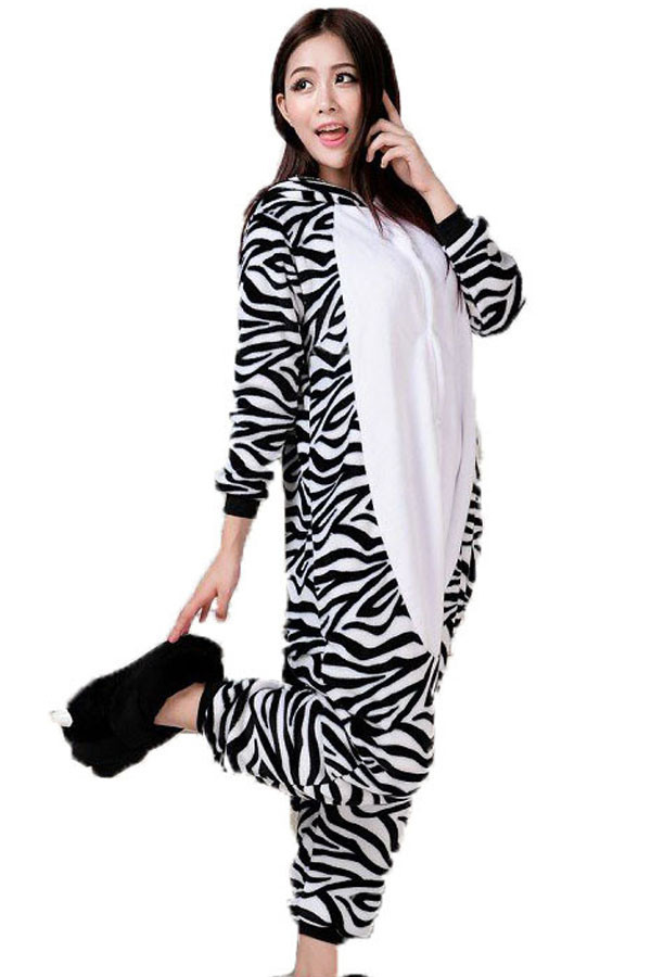 E458-1122 Pijama intreaga kigurumi, model Zebra