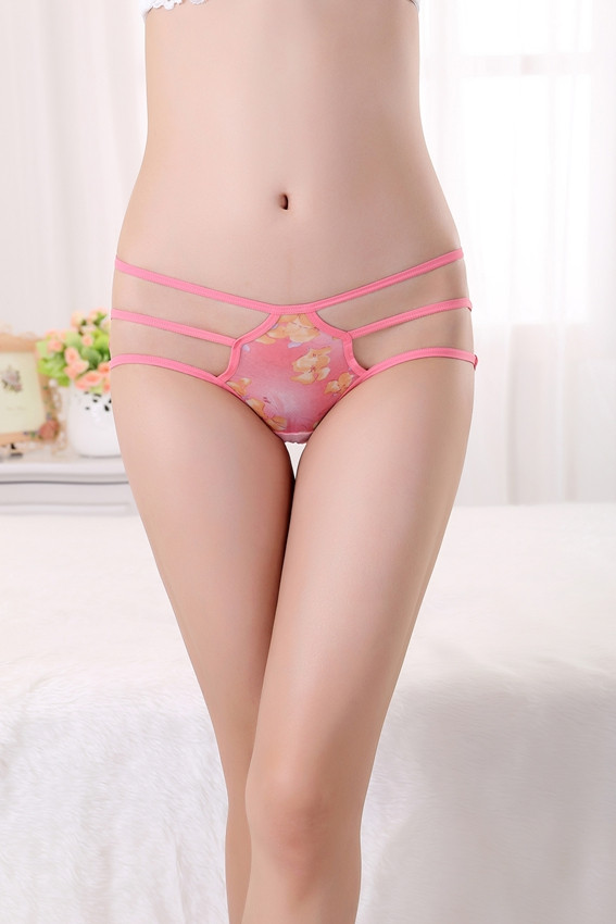 GS683-33 Chilot normal sexy cu broderie si model floral