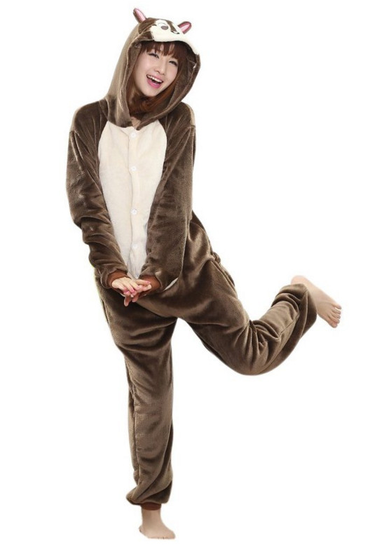 H451-789 Pijama kigurumi intreaga, model Chipmunk (veverita)