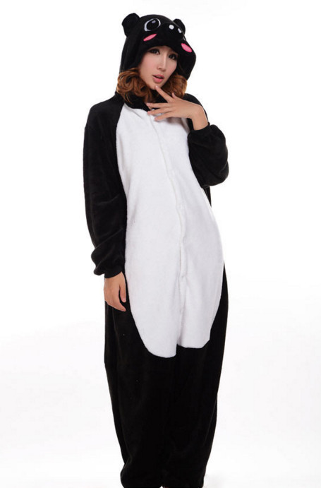 H453-1122 Pijama kigurumi intreaga, model Black Piggy