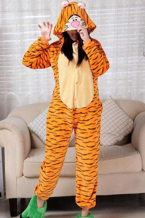 J256 Pijama intreaga kigurumi, model tigru