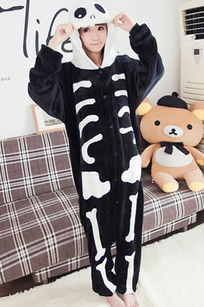 K255 Pijama intreaga kigurumi, model anatomic schelet