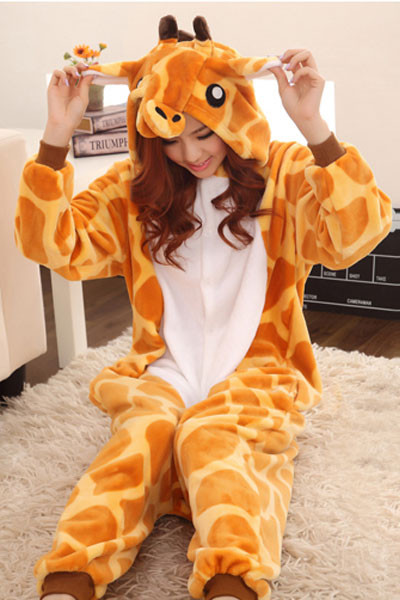 K256 Pijama intreaga kigurumi, model girafa