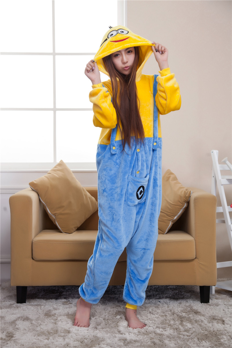 L302 Pijama intreaga kigurumi, model Minions
