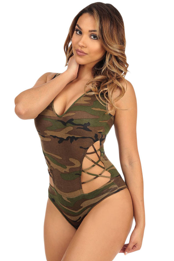 R454-120 Body sexy camouflage, decupat pe lateral