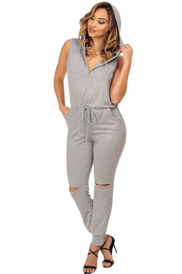 S452-18 Salopeta casual cu gluga si model taiat