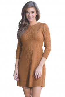 Outlet - A565-8 Rochie scurta, casual, stil pulover tricotat