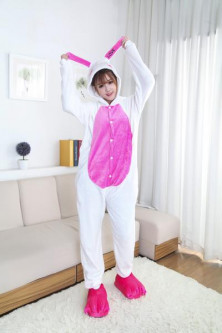 Pijamale - PJM46-25 Pijama intreaga kigurumi, cu model Love Bunny